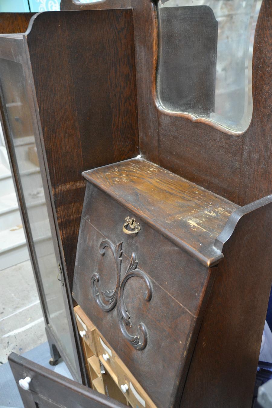 Antique secretary desk, refinished secretary, refinishing antiques, before  & after secretary - Refinished Antique Secretary Desk 100 Things 2 Do