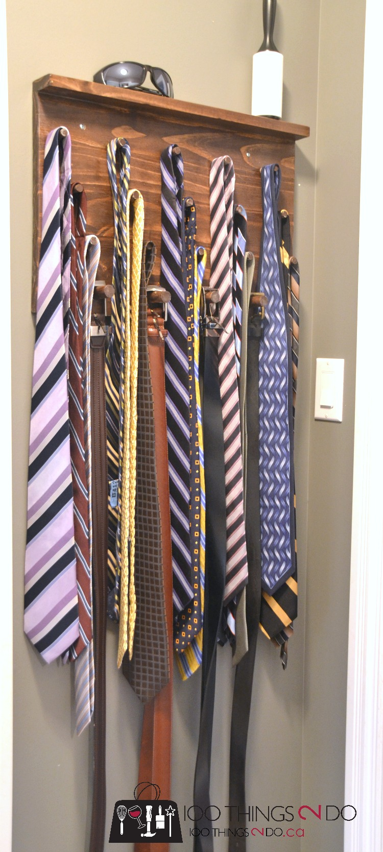 DIY Tie Rack, gifts for him, tie rack, easy tie rack, DIY jewelry rack, DIY jewellery rack, necklace holder