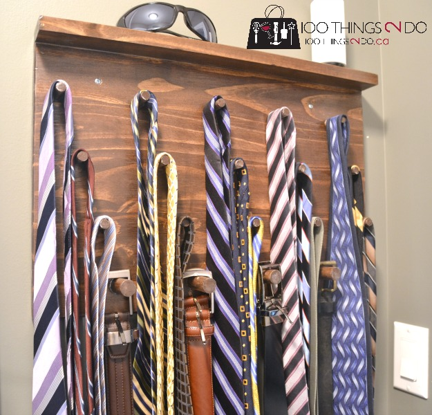 DIY Tie Rack gifts for him tie rack easy tie rack DIY : diy tie storage  - Aquiesqueretaro.Com