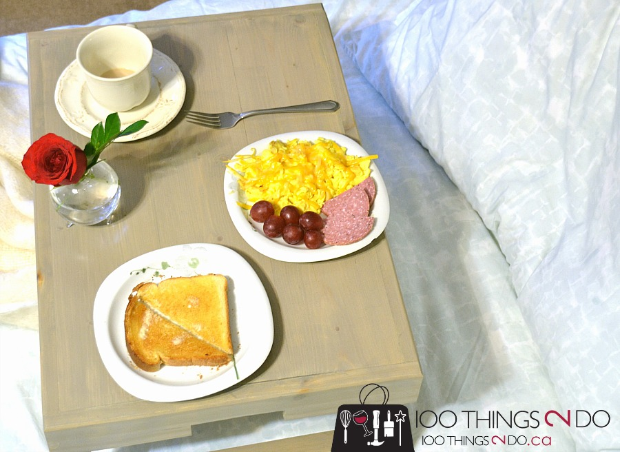 DIY folding lap desk, DIY folding breakfast tray, lap desk, breakfast tray, breakfast in bed