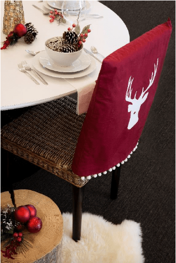 Christmas chair covers, chair cover, Rust-Oleum Chalked paint, Rust-Oleum NeverWet, Leigh-Ann Allaire Perrault