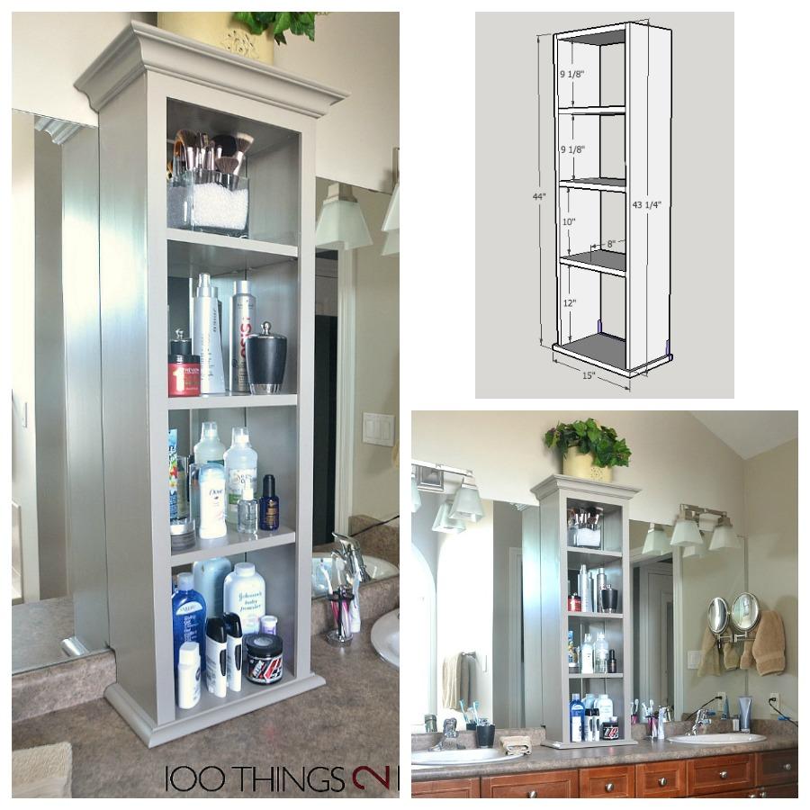 Bathroom storage tower bathroom tower vanity tower cabinet on bathroom vanity vanity  sc 1 st  100 Things 2 Do & bathroom vanity storage bathroom storage tower
