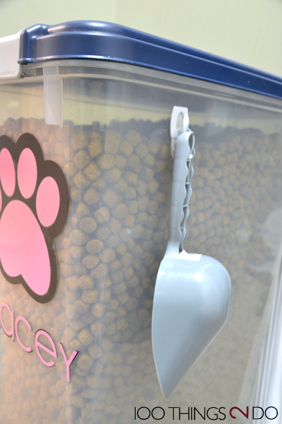 Dog food container, pet food container, personalized pet food, Silhouette Cameo