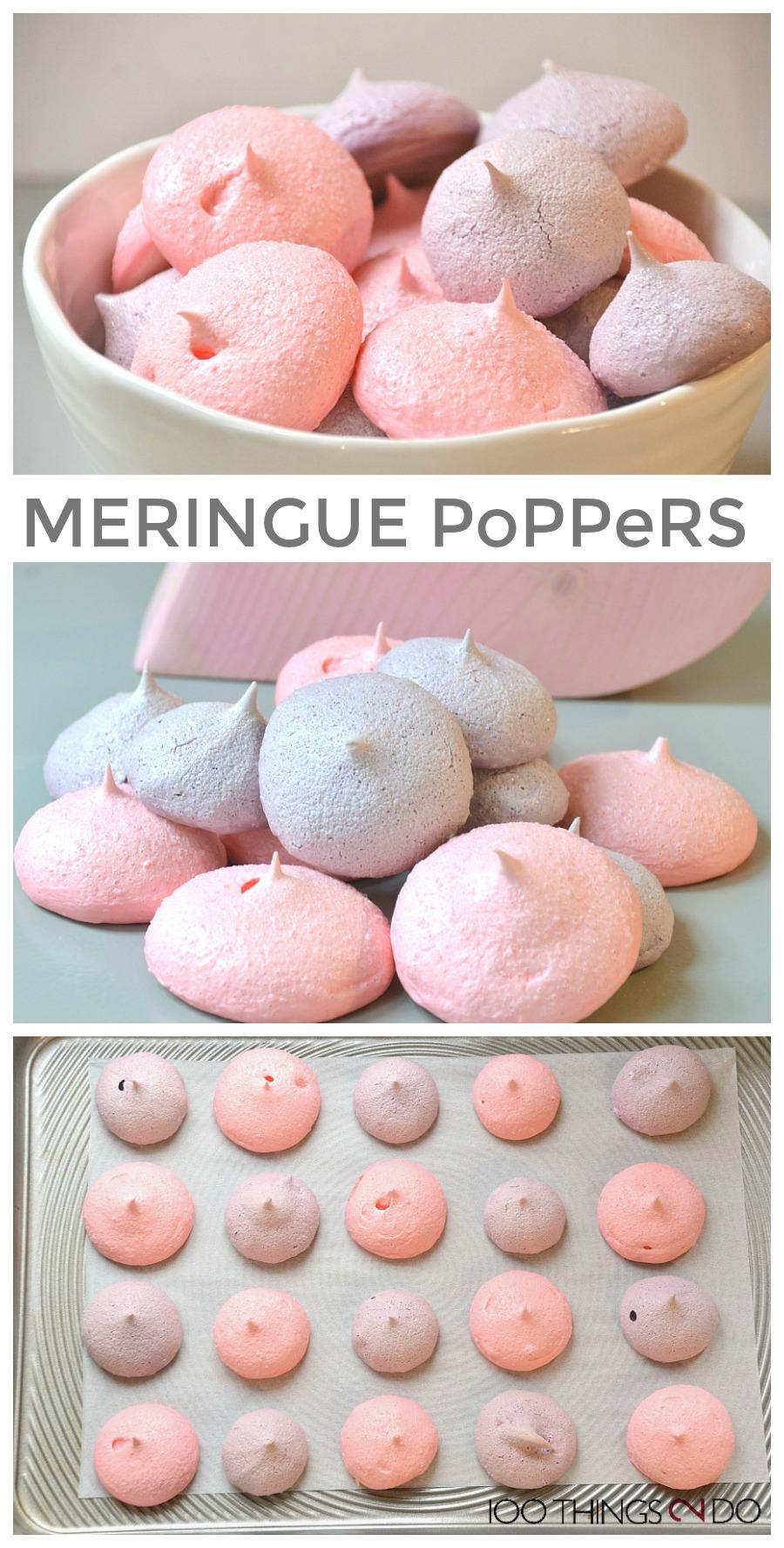 Easy meringue poppers, Jello meringue, flavoured meringue cookies, meringue poppers