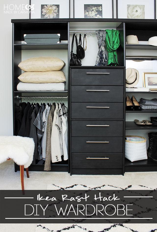 Ikea Rast hacks, 50 of the best Ikea Rast hacks, DIY closet built-ins, custom closet, repurposed dresser, Ikea rast makeover, nightstand, bedside table, Ikea hacks