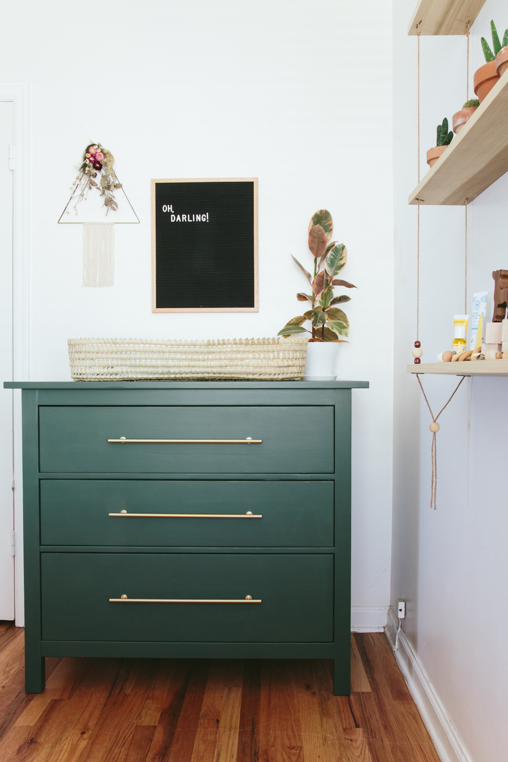 Ikea Rast hacks, 50 of the best Ikea Rast hacks, green nightstand, green dresser, change table, Ikea rast makeover, nightstand, bedside table, Ikea hacks