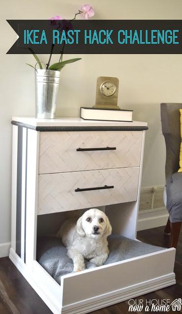 Ikea Rast hacks, 50 of the best Ikea Rast hacks, repurposed nightstand, DIY pet bed, Ikea rast makeover, nightstand, bedside table, Ikea hacks
