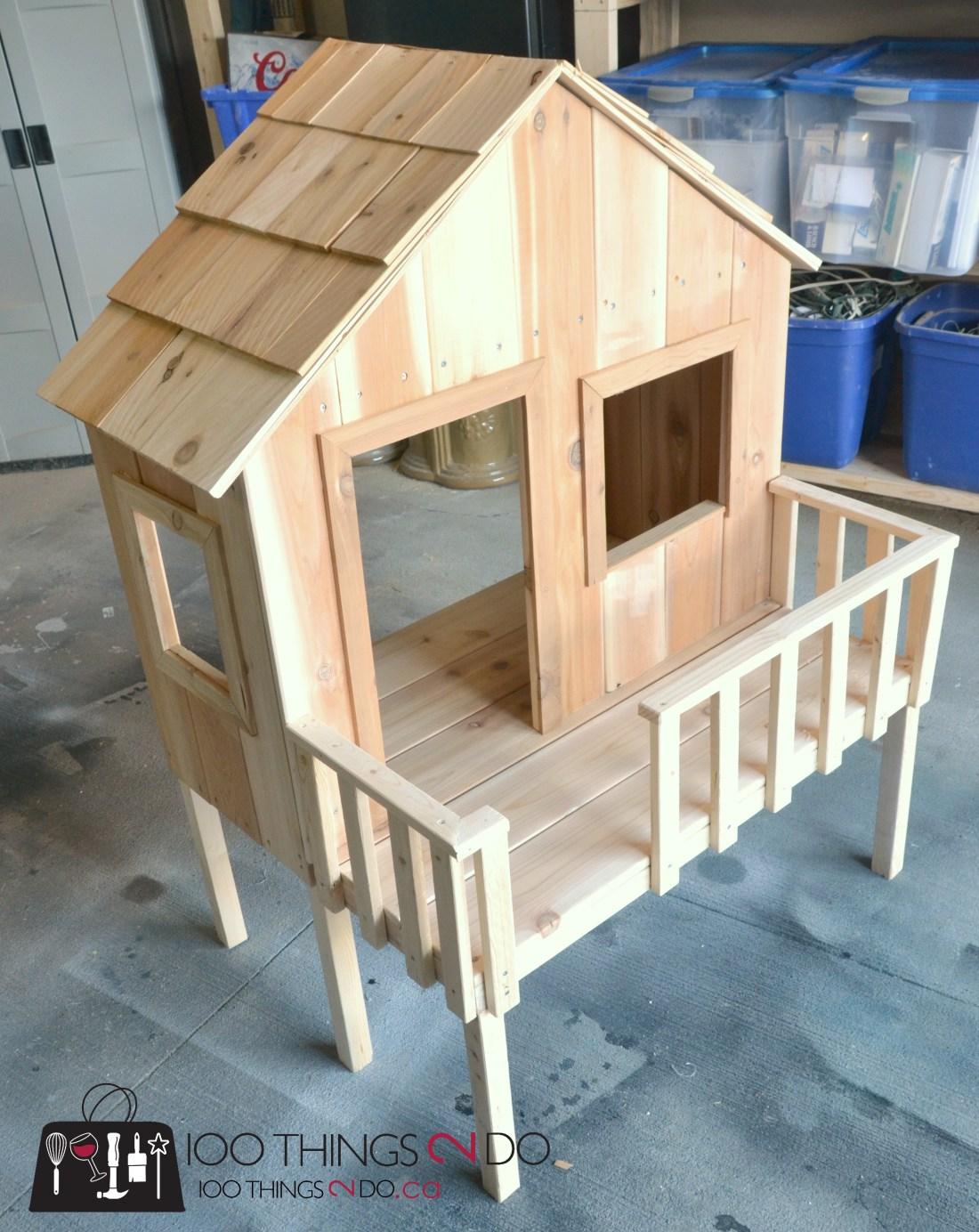 "American Girl dollhouse, American Girl doll treehouse, doll treehouse, doll beach house, DIY dollhouse, 18"" doll treehouse"