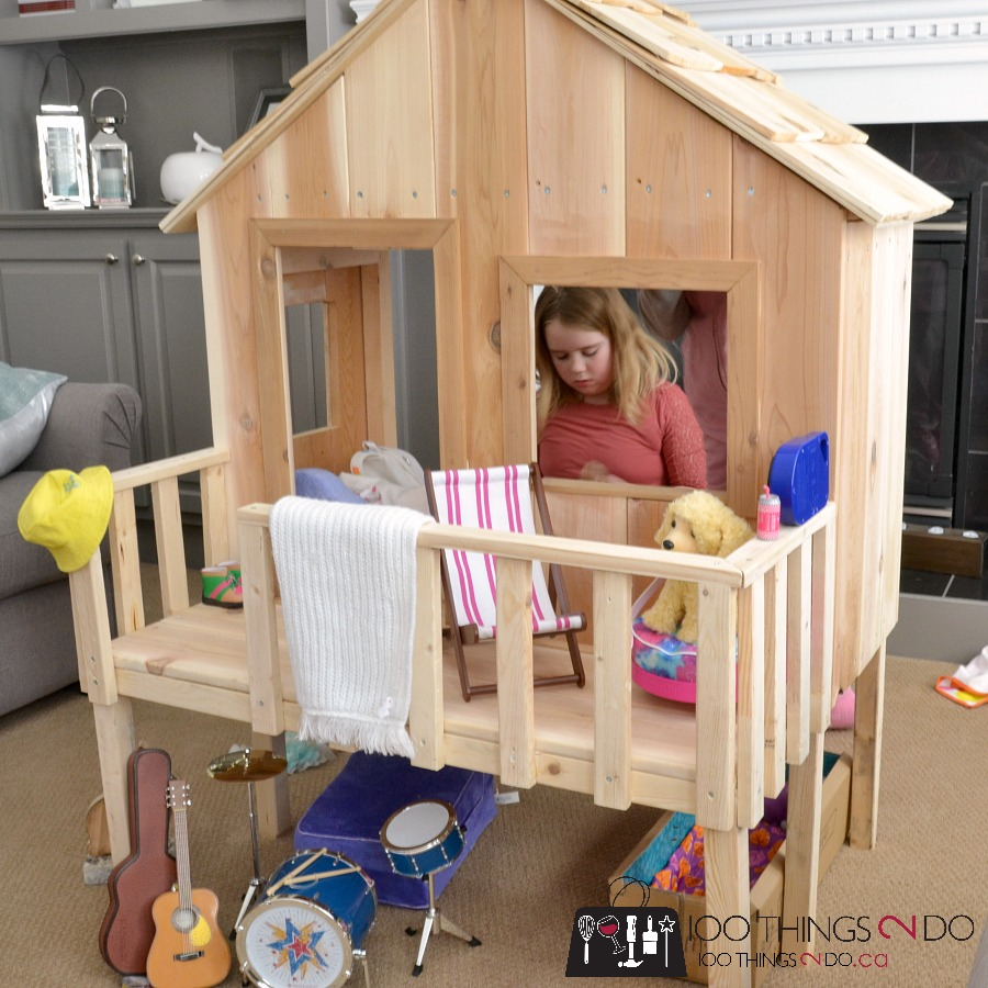 "American Girl dollhouse, American Girl doll treehouse, doll treehouse, doll beach house, DIY dollhouse, 18"" doll treehouse"