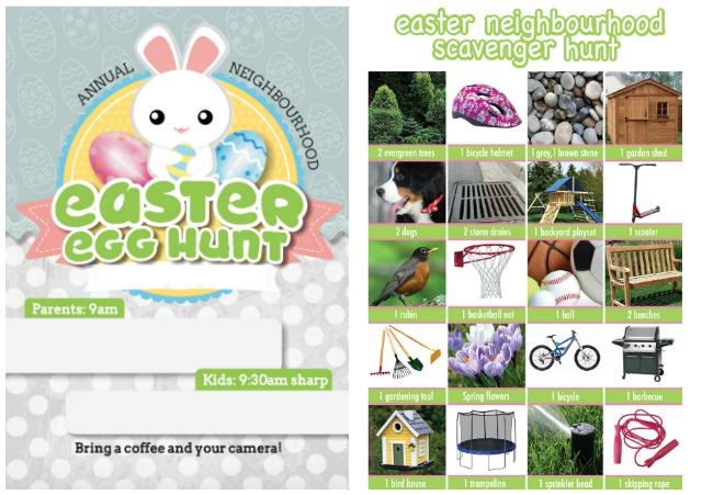 View Larger Image Easter Egg Hunt Invitation Scavenger