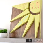 Scrap wood sign, scrap wood project, Here comes the sun, wood sign, diy wood sign, easy wood sign, scrapwood