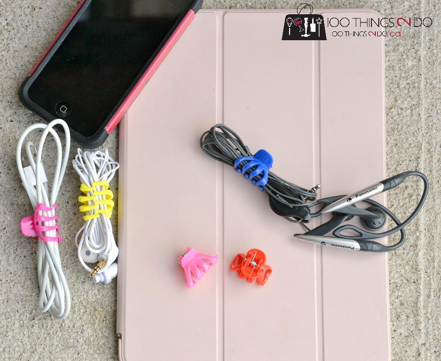 Organizing power cords, cord organization, organizing cords, cord wraps, dollar store organizing, ipad cord, iphone cord, cord storage
