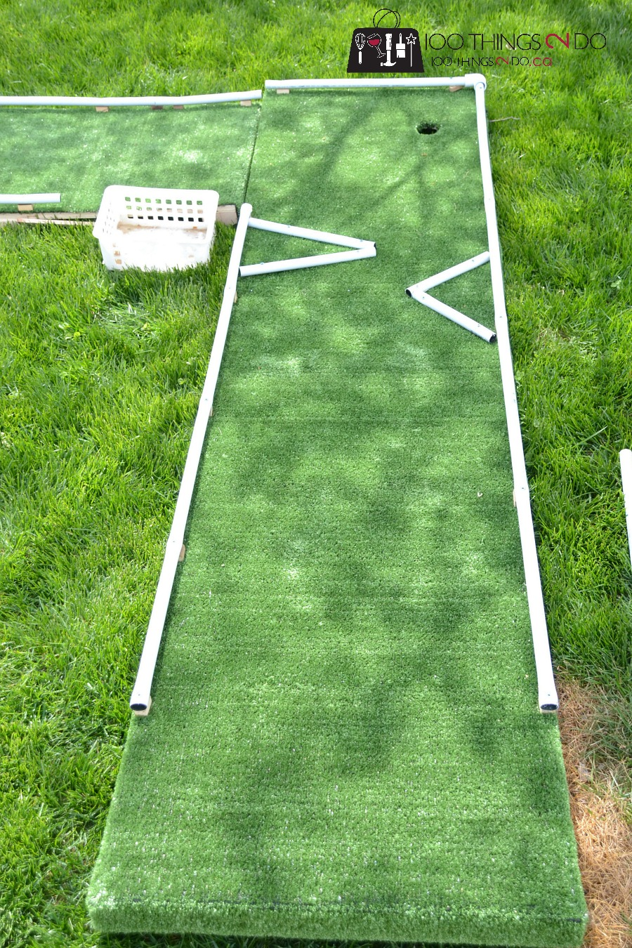 DIY mini golf, mini-golf, mini-putt, DIY mini-putt, backyard games, backyard fun, DIY backyard games