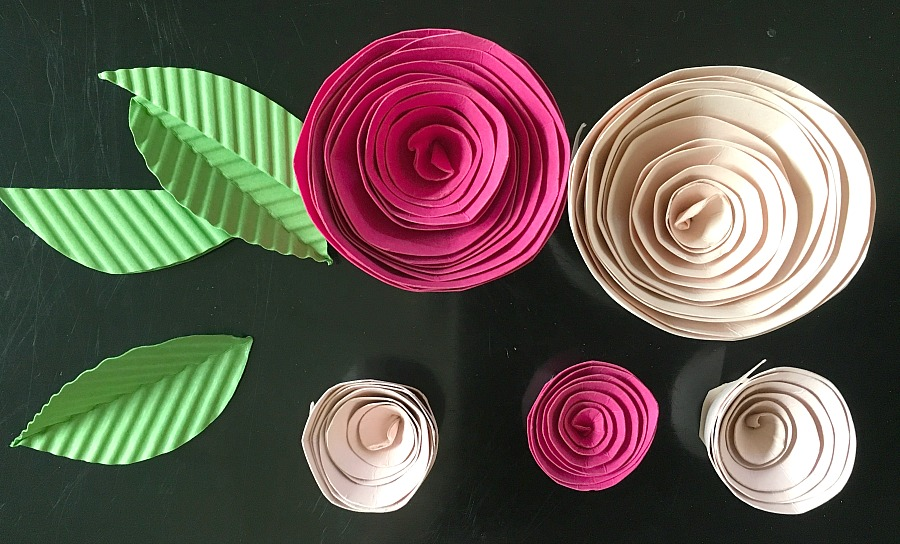 paper flowers, easy paper flowers