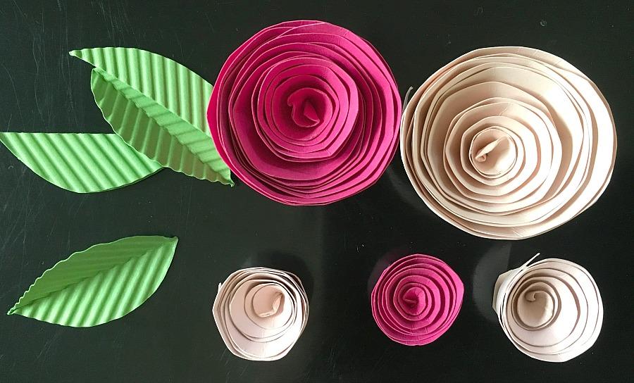 paper flowers, easy paper flowers