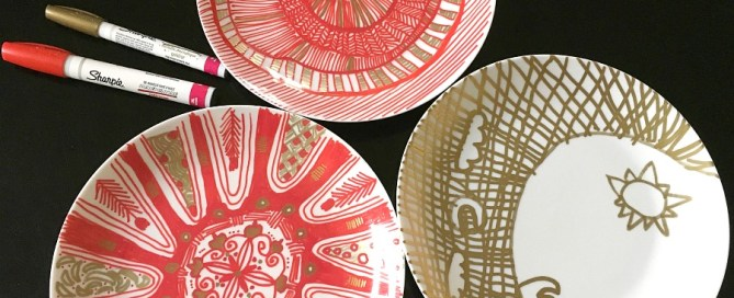Zentangle plates, sharpie dishes, Sharpie plates, drawing on dishes, Sharpie oil markers, zentangle