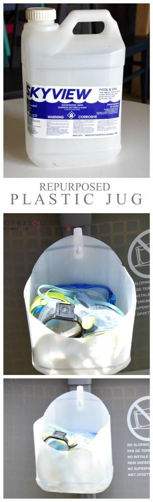 Plastic jug, repurposed plastic jug, upcycled plastic jug, water jug, what to do with plastic jugs
