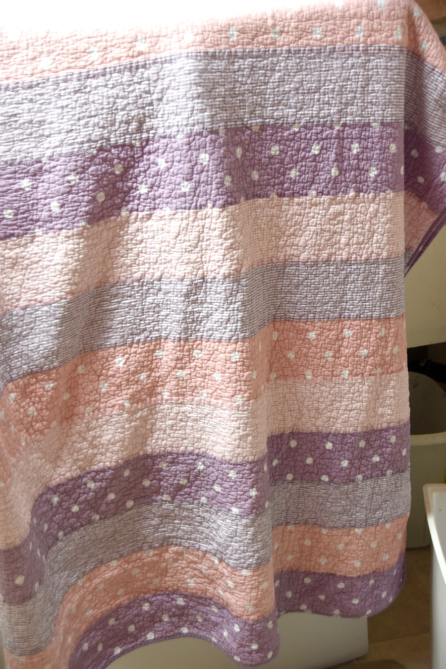 Using Rit Dye to get a Pottery Barn look, over-dying a quilt, rit dye, rit dye a quilt, how to dye a quilt