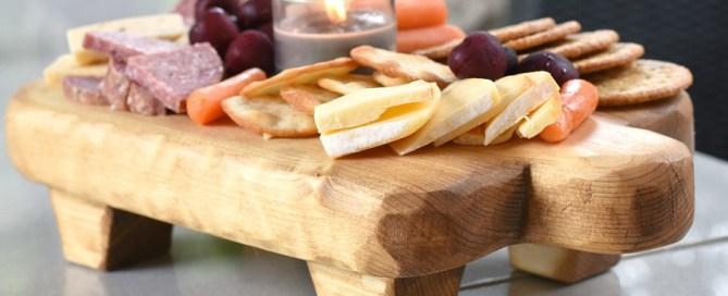 Charcuterie board, DIY charcuterie board, appetizer tray, rustic appetizer tray, Pottery Barn knock-off