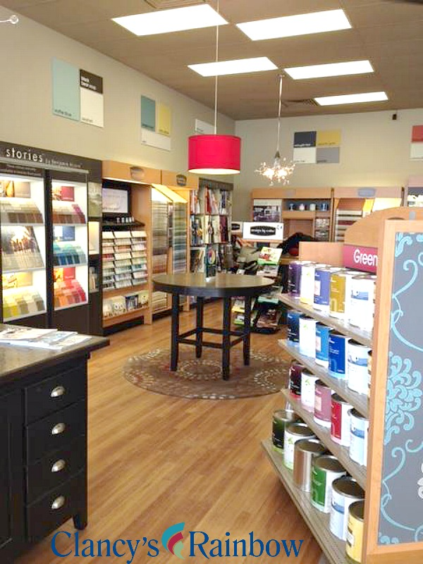 Clancy's Rainbow, Benjamin Moore paint store, Design Consultants at Clancy's Rainbow, London Ontario