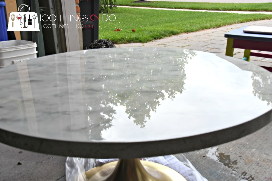 The Varathane® Will Take 24 Hours To Dry To The Touch, But 72 Before It Is  Cured U2013 So Donu0027t Use Your DIY Marble Table Until You Are Positive It Has ...
