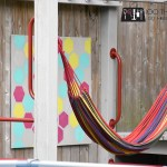 Outdoor art, outdoor decor, fence art, outdoor canvas, stencil art, playground upgrades