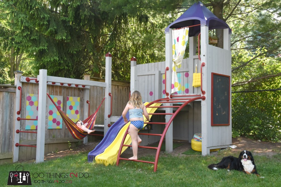 Backyard Playground, Playset, Treehouse, Upgrading Your Play Set, Playground  Makeover, Tweening