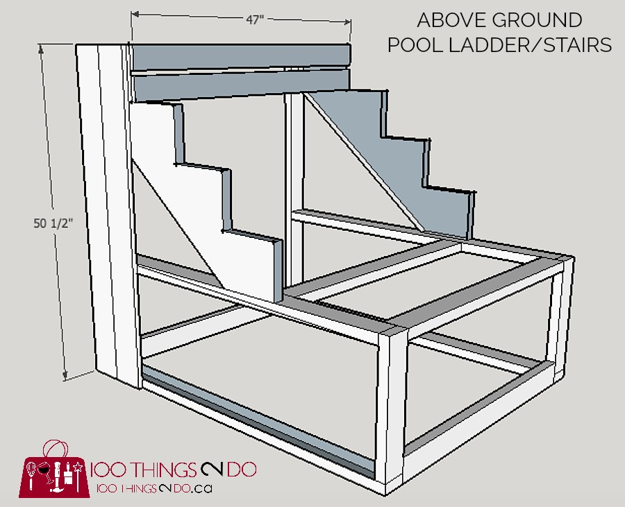 how to build above ground pool stairs intex pool stairs diy pool ladder - Above Ground Pool Steps Diy