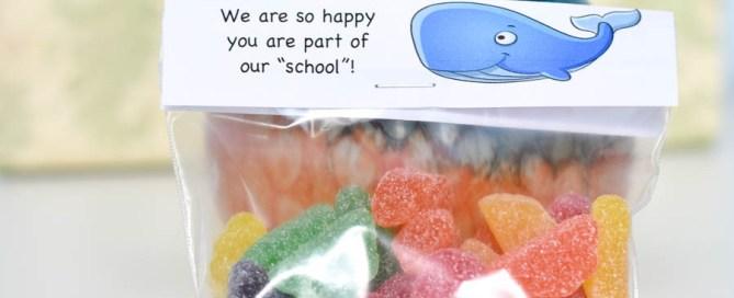 Back-to-school treats, treat labels, school treats, treat bag tags, back to school bag tags, treat bag tags