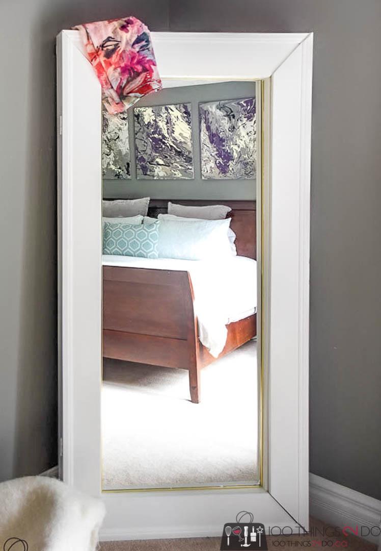floor mirror with storage
