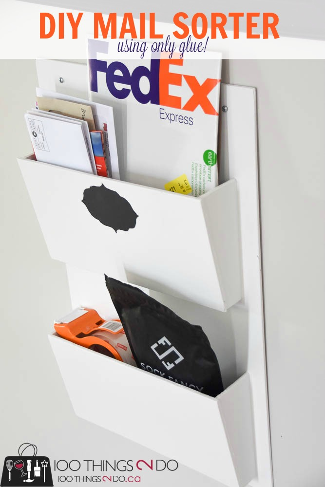 DIY mail sorter, mail sorter, mail organizer, command centre, mail slots, mail pockets, file organizer