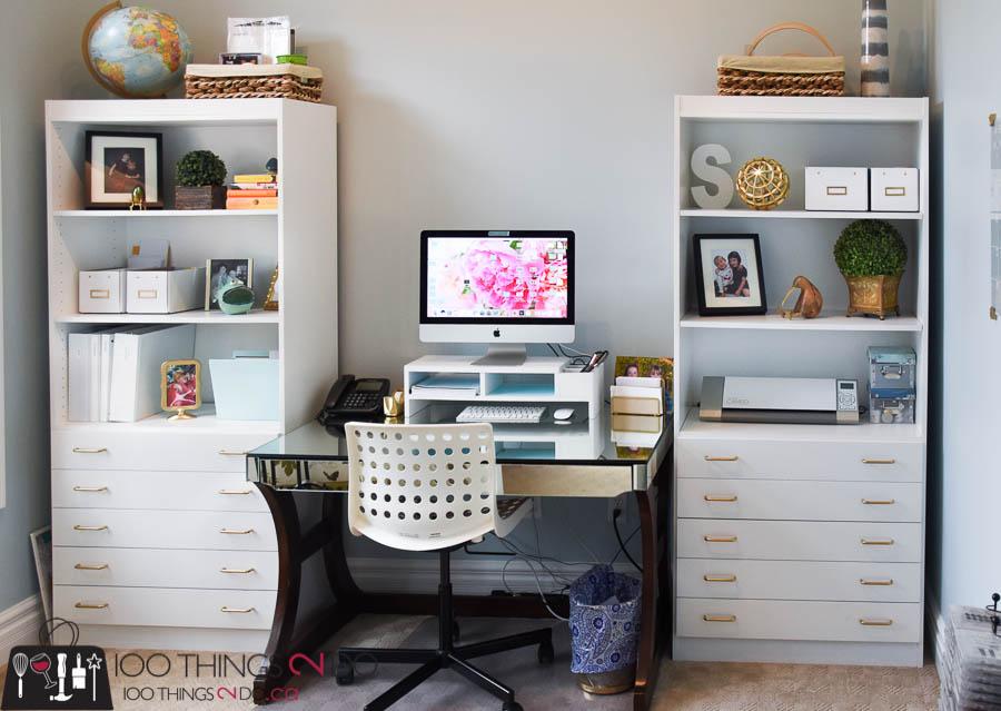 Office Bookshelves, Bookshelf, White Bookshelf, White Bookshelves, Office  Makeover, Home Office