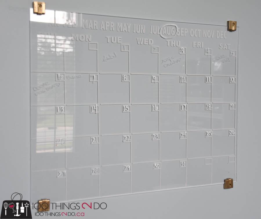 Home Office Erasable Calendar 100 Things 2 Do