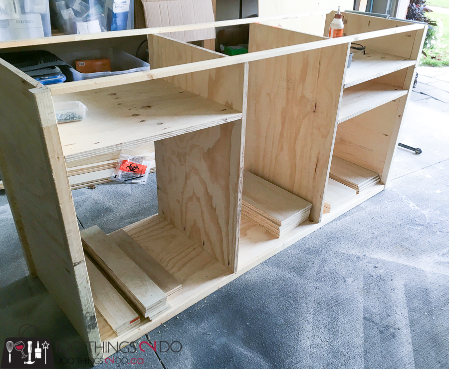DIY media console, DIY buffet, DIY media cabinet, IG Builder's Challenge, IGBC4, Instagram Builder's Challenge