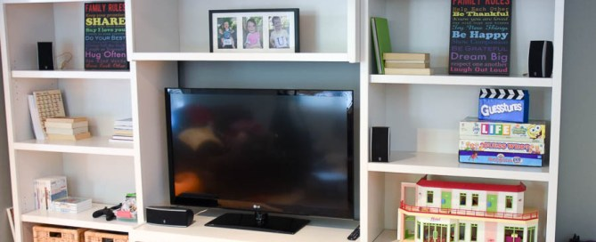 Painted entertainment centre, refinished entertainment centre, Kari's cabinets, painted media cabinets, painted bookshelves