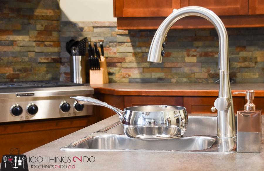 kitchen faucet, choosing a faucet, Pfister faucets, Pfister Raya, hands-free faucet