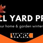 Fall yardwork, Fall yard cleanup, Prepping your yard for winter, winterizing your yard, WORX Tools, WORX Turbine Fusion, leaf blower, mulcher, leaf vacuum