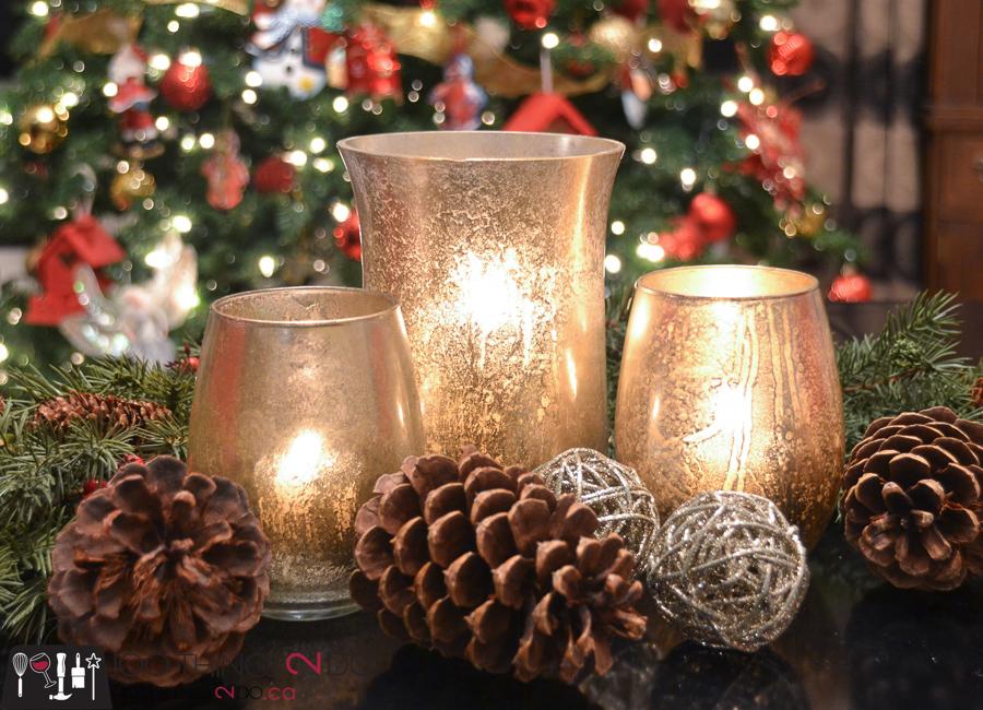 20 Simple Christmas DIYs, DIY mercury glass, mercury glass candles, Christmas DIY, Easy Christmas crafts, DIY Christmas decor