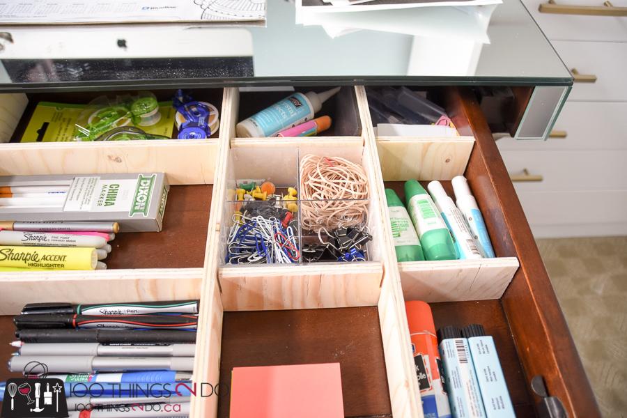 DIY drawer organizer, scrapwood drawer organizer, drawer dividers, DIY drawer dividers