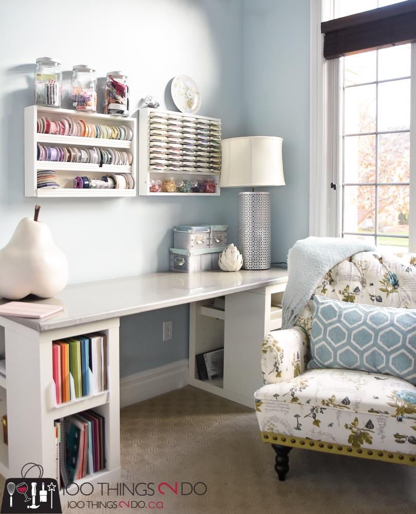 home office makeover craft room room feminine home office c11 craft