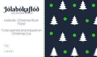 Jólabókaflóð, Jolabokaflod, Christmas book flood, Yule book flood, Icelandic traditions, Christmas in Iceland