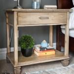 DIY Nightstand, DIY bedside table, Pottery Barn Sausalito, Pottery Barn knock-off, Sausalito extra-wide bedside table, Sausalito nightstand