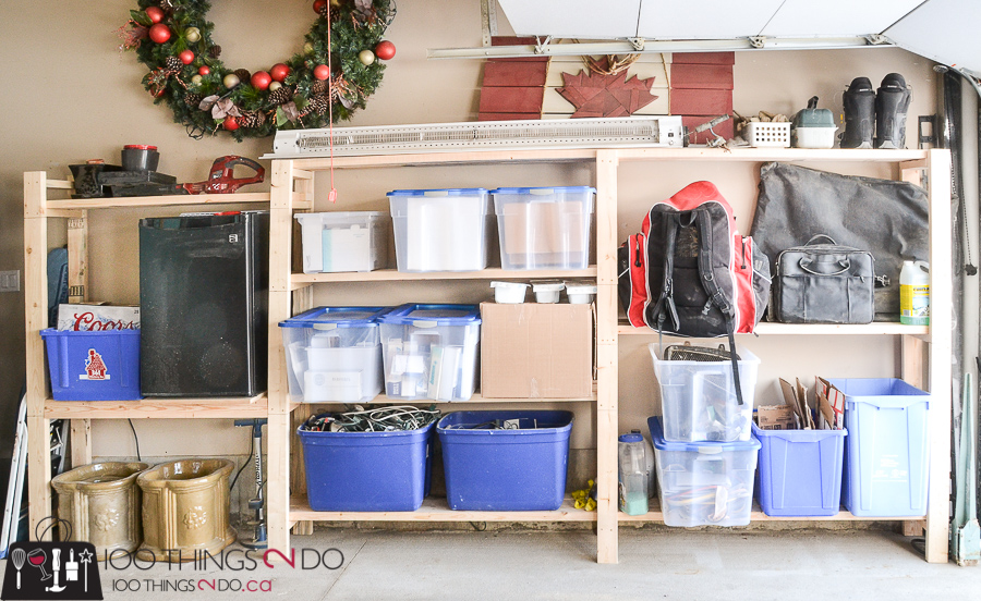 10 DIY Furniture Projects for Beginners, DIY furniture, beginner builds, easy DIY furniture, garage organization, organizing the garage, garage shelving