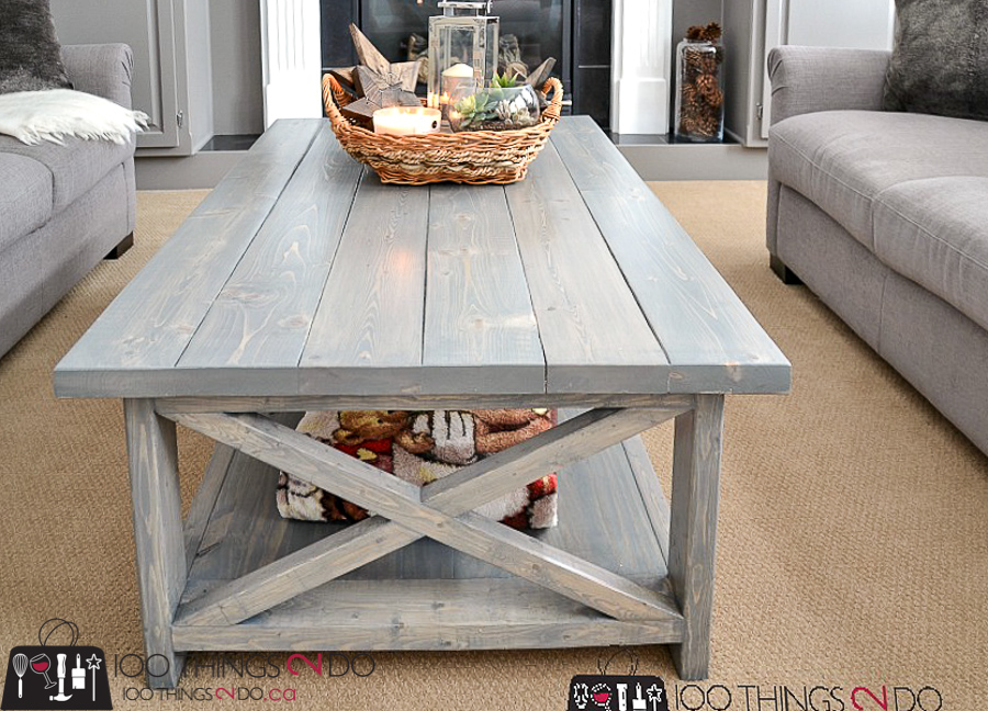 10 DIY Furniture Projects for Beginners, DIY furniture, beginner builds, easy DIY furniture, rustic x coffee table