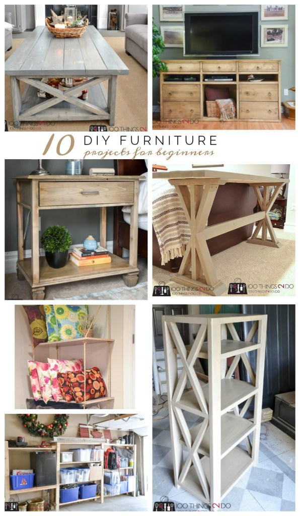 10 DIY Furniture Projects for Beginners, DIY furniture, beginner builds, easy DIY furniture,