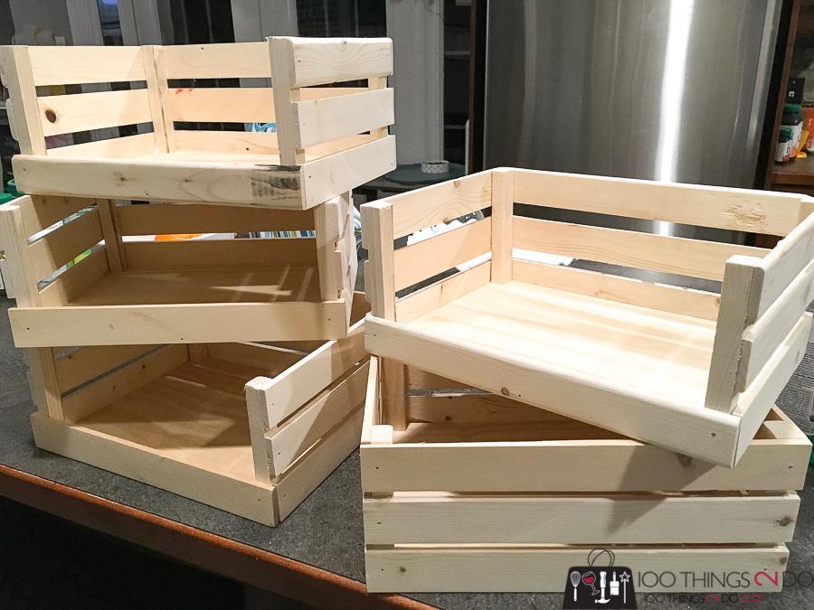 Small crates, DIY crates, small storage crates, organizing crates, bathroom storage