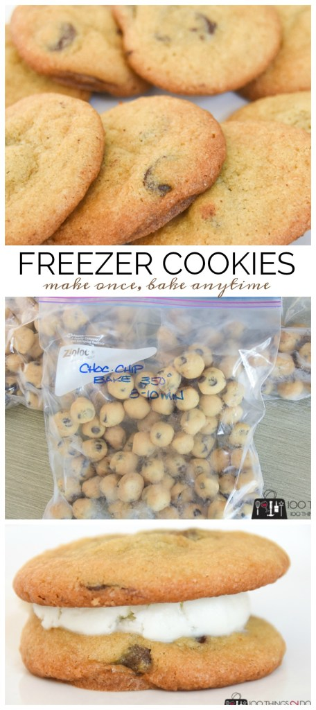 Kitchen hack: freezer cookies, fresh-baked cookies anytime, chocolate chip cookies on demand, fresh baking anytime