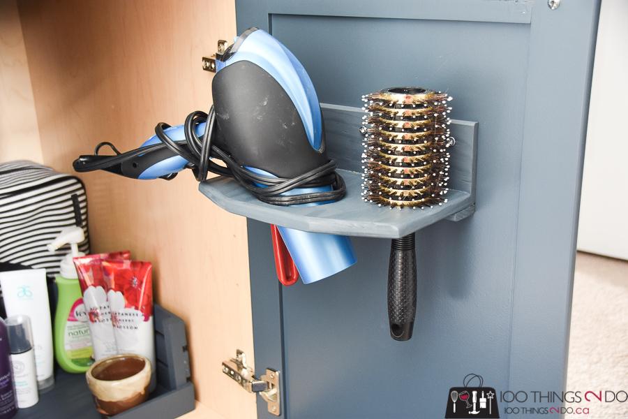 DIY Hair Dryer Holder, In Cupboard Hair Dryer Holder, Hair Dryer Rack,