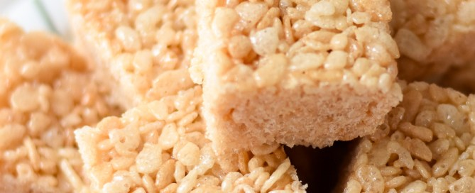 The key to gooey rice krispie treats, rice krispie squares, after school snack ideas, easy treats