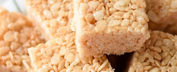 The key to gooey rice krispie treats, rice krispie squares, after school snack ideas, easy treats